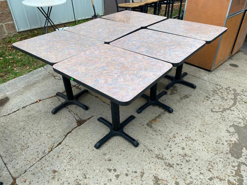 lot-of-6-restaurant-tables-24in-x-30in-laminate-top-iron-pedestal-base