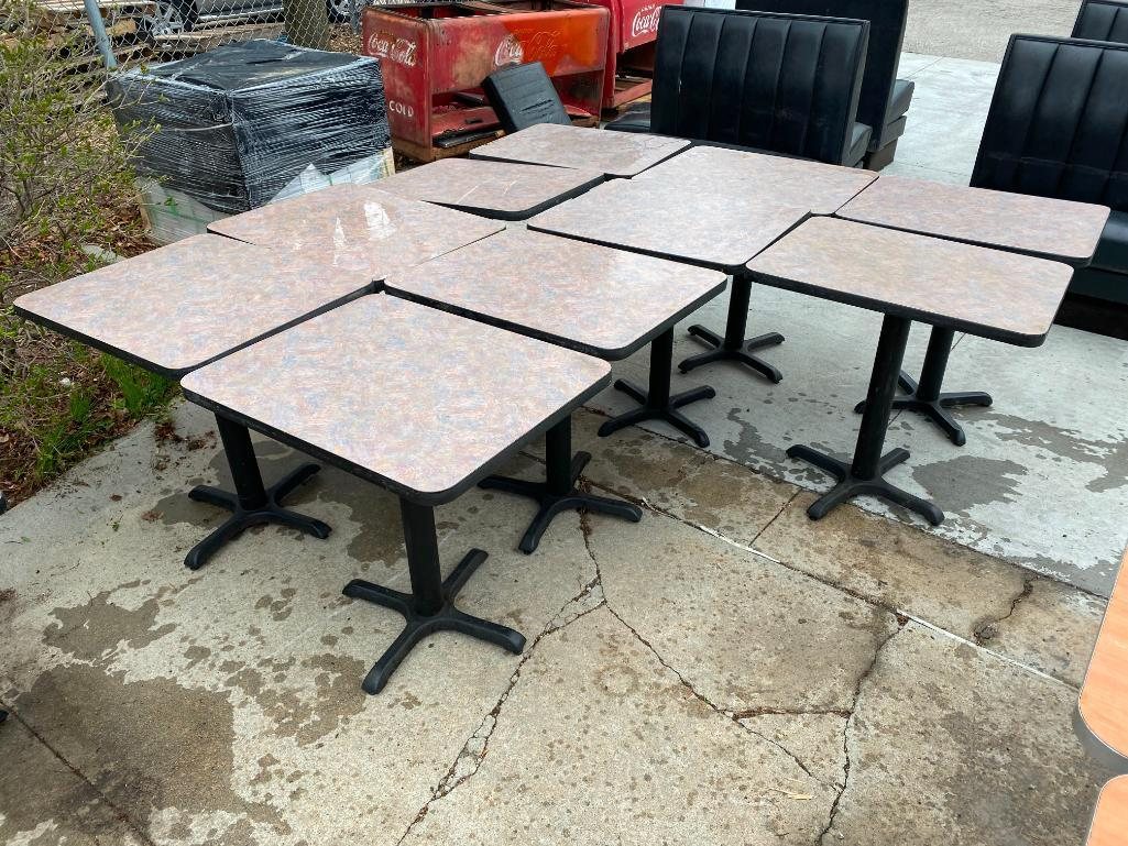lot-of-10-restaurant-tables-laminate-top-metal-pedestal-base-24in-x-30in