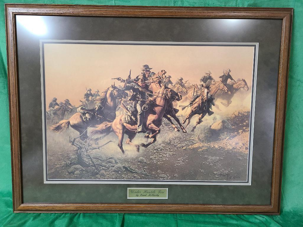 under-hostile-fire-by-frank-c-mccarthy-signed-and-numbered-791-1000-27-x-18
