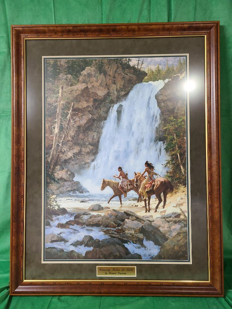 crossing-below-the-falls-by-howard-terpning-signed-and-numbered-587-1000-22-1-2-x-32