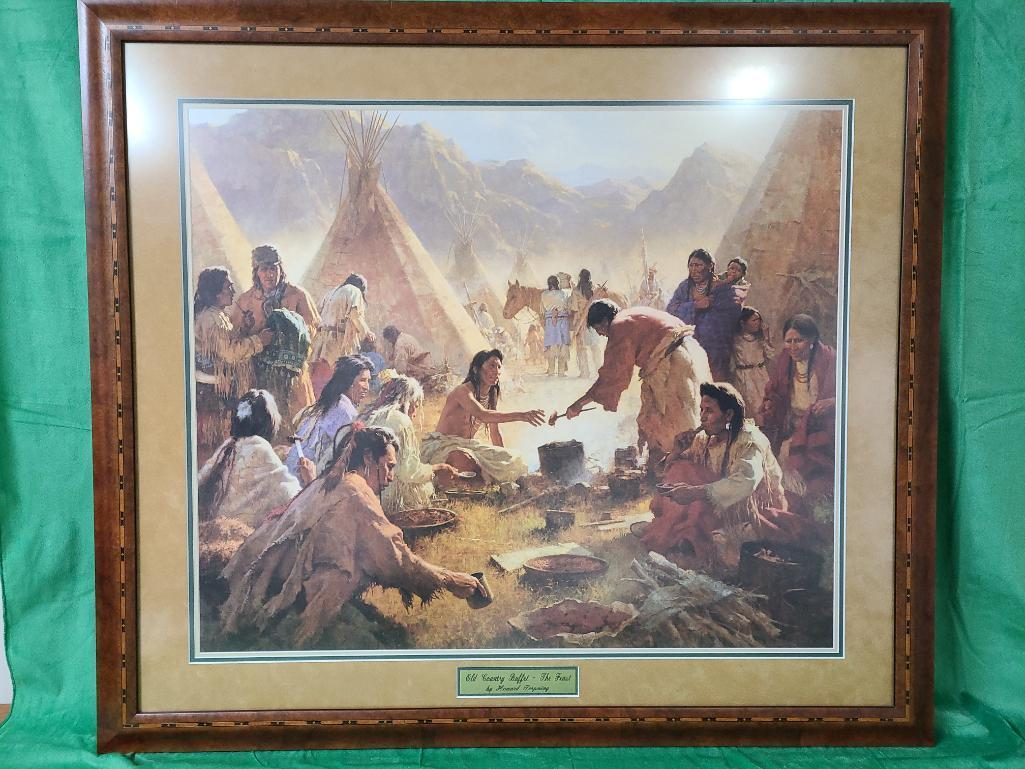 the-feast-by-howard-terpning-signed-and-numbered-896-1850-36-x-31-1-4