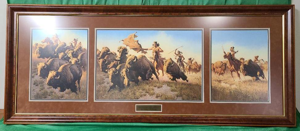 splitting-the-herd-by-frank-c-mccarthy-signed-and-numbered-23-550-21-1-2-x-14-3-8