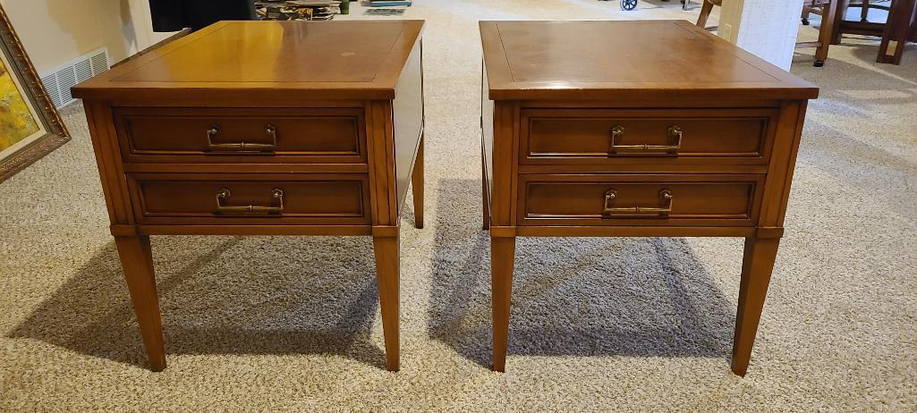 lot-of-2-mid-century-modern-hekman-end-tables-20in-x-27in-x-22in-tall-w-2-drawers
