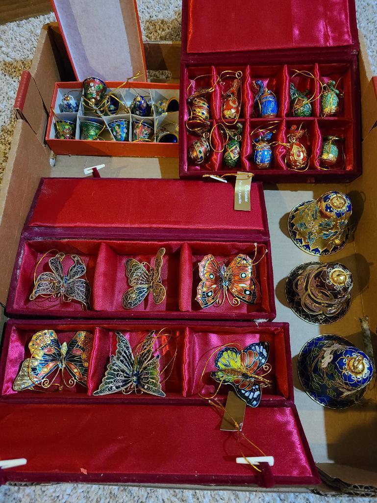 cloisonne-collectibles-and-decorations-birds-bells-butterflies-christmas