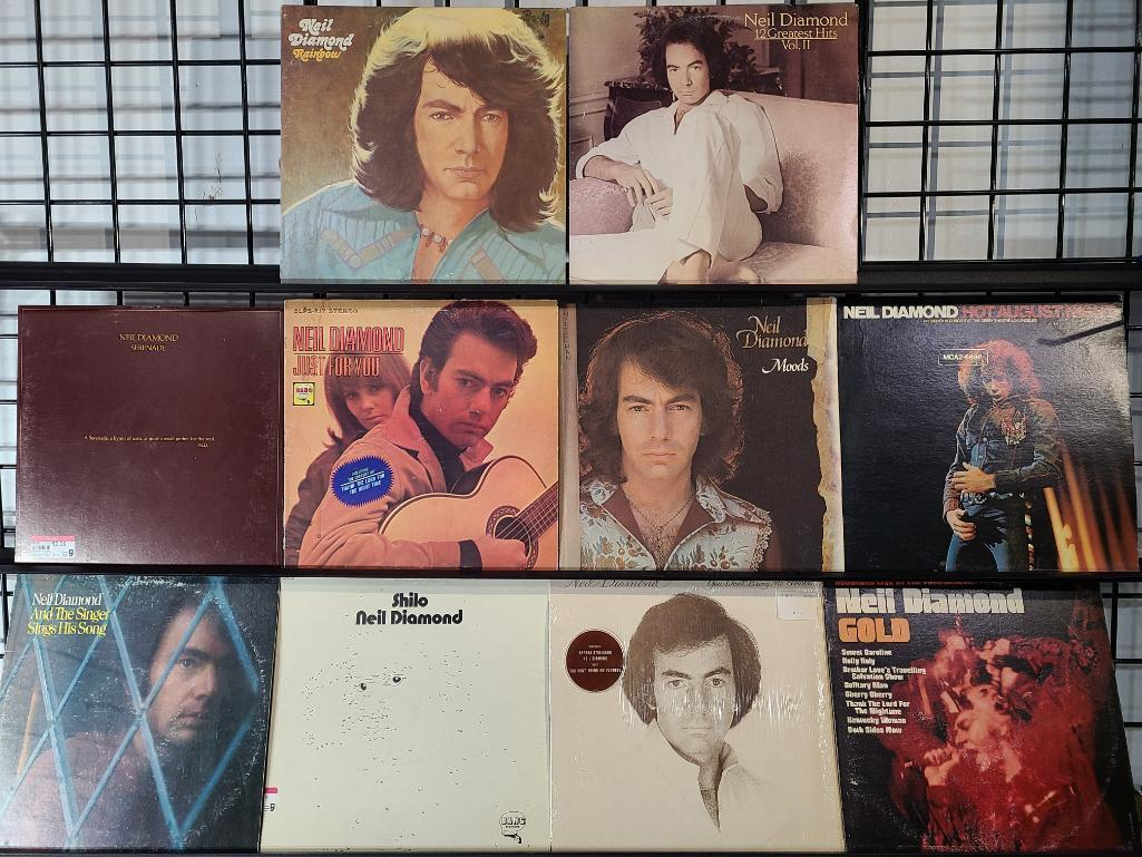 total-of-10-8-neil-diamond-record-albums-w-12-greatest-hits-vol-11-the-singer-sings-his-songs