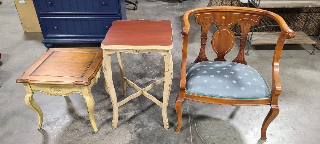 antique-chair-2-vintage-end-tables