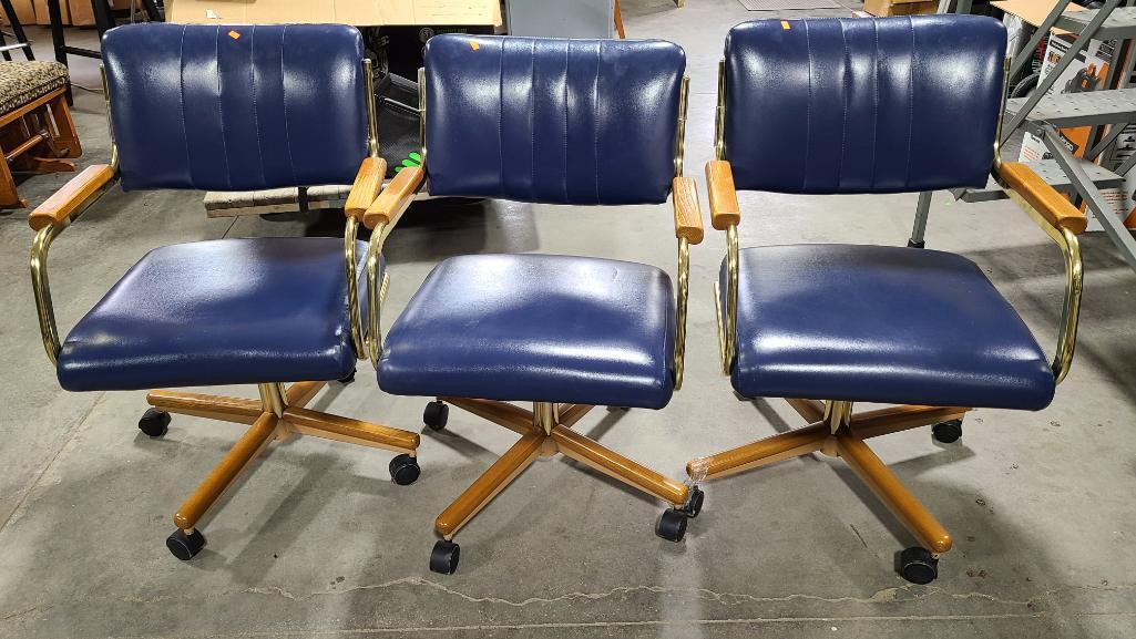 lot-of-3-matching-leather-and-wood-and-brass-kitchen-or-office-chairs