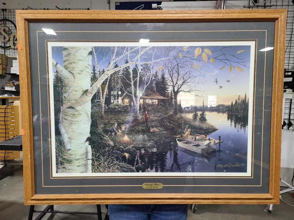signed-cabin-lake-themed-framed-print-by-mark-daehlin-titled-closing-time-no-1507-2000