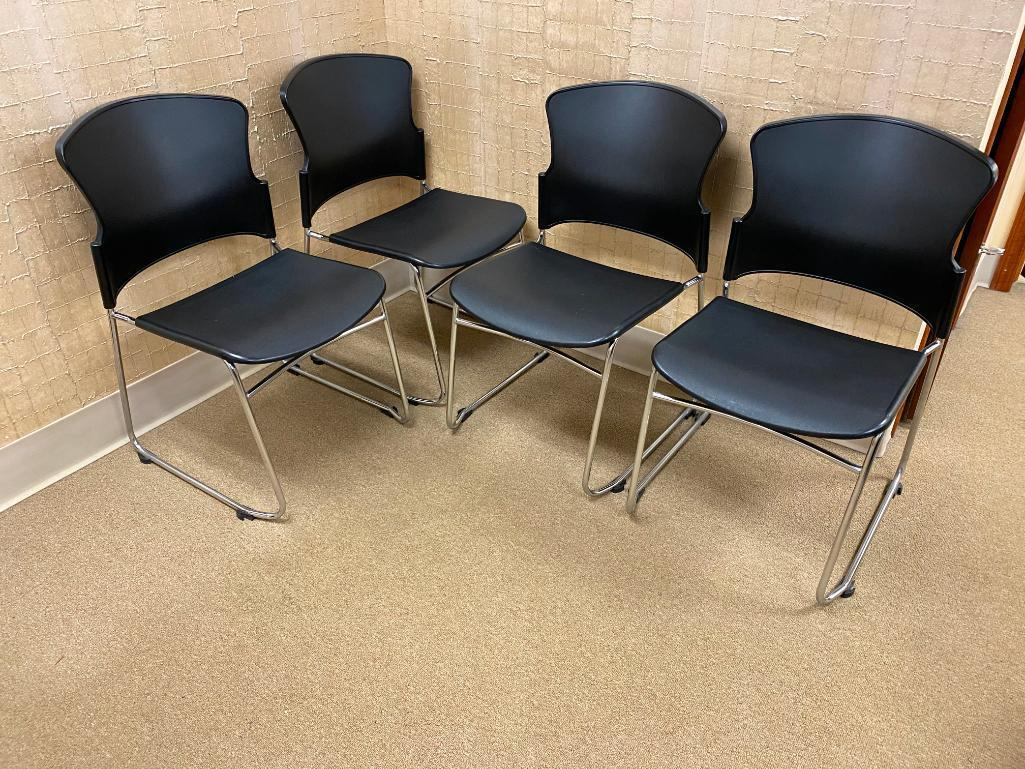 lot-of-4-lobby-chairs-molded-plastic-seat-back-chrome-frame