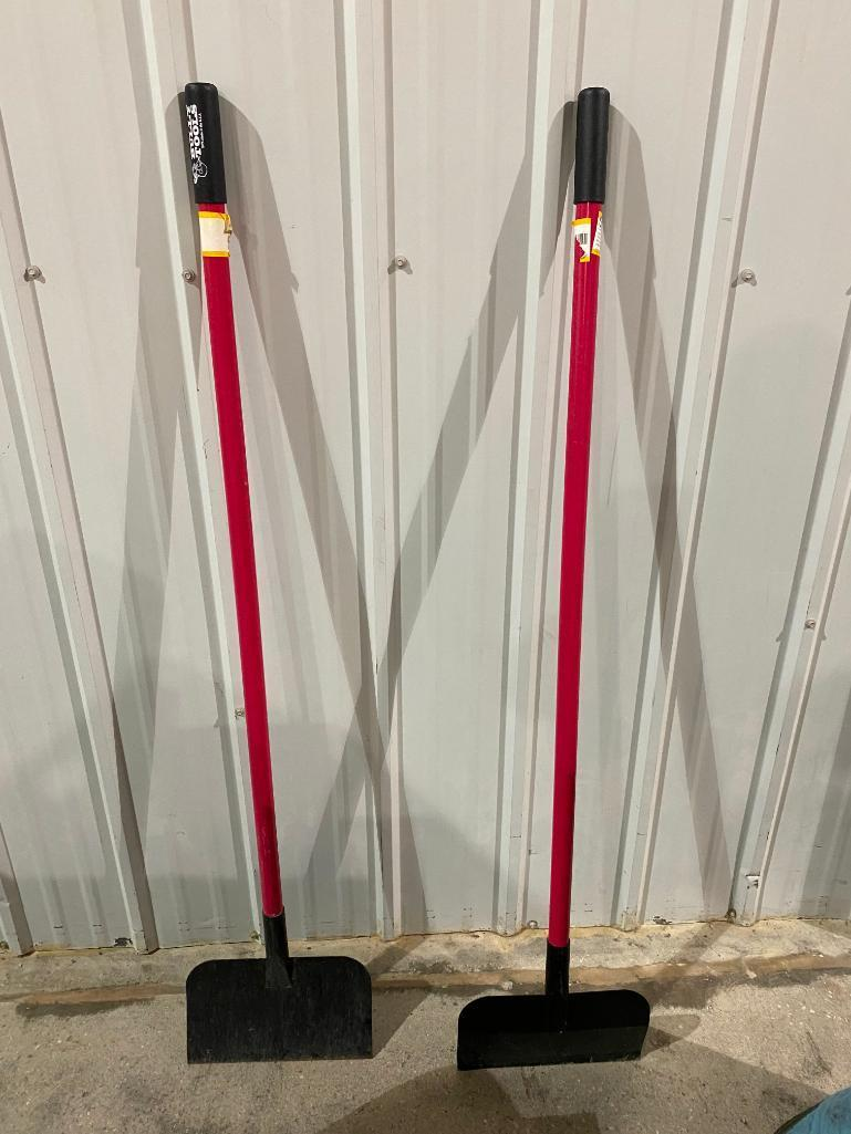 lot-of-2-bully-tools-scrapers-w-fiberglass-handles