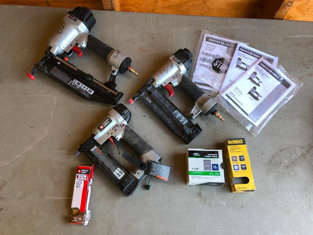 lot-of-3-porter-cable-air-nailers-finish-nailers-pin-brad-nailer-w-manuals-nails