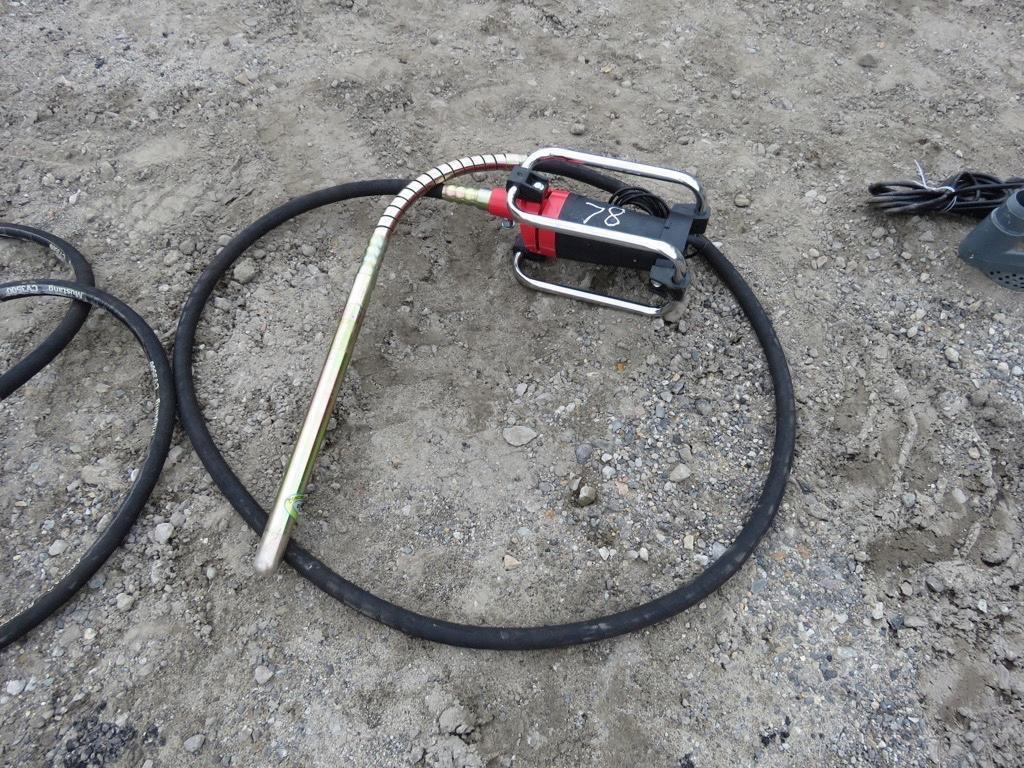 NEW MUSTANG CV3500 CONCRETE VIBRATOR NEW SUPPORT