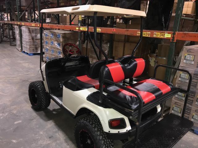 CUSTOMIZED GAS GOLF CART W/ BACK SEAT  ALUMINUM