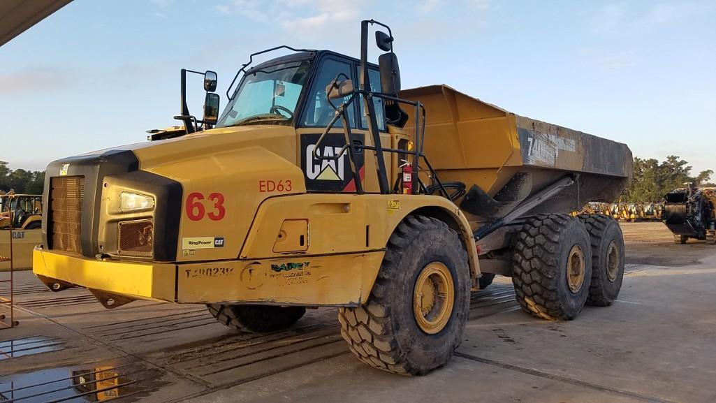 2014 CAT 740B ARTICULATED HAUL TRUCK SN:T4R02314 6x6