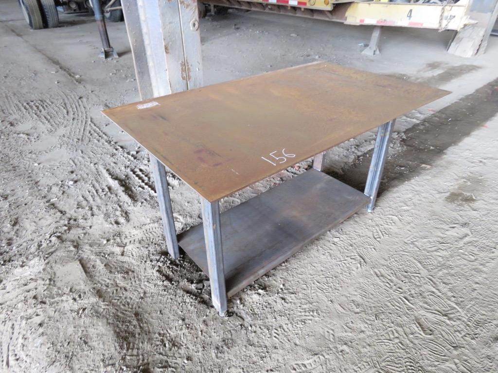NEW 30IN. X 57IN. WELDING TABLE W/SHELF NEW SUPPORT