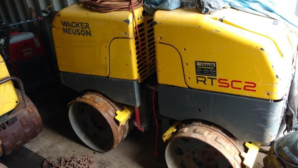 WACKER RTSC2 TRENCH ROLLER Powered By Diesel Engine