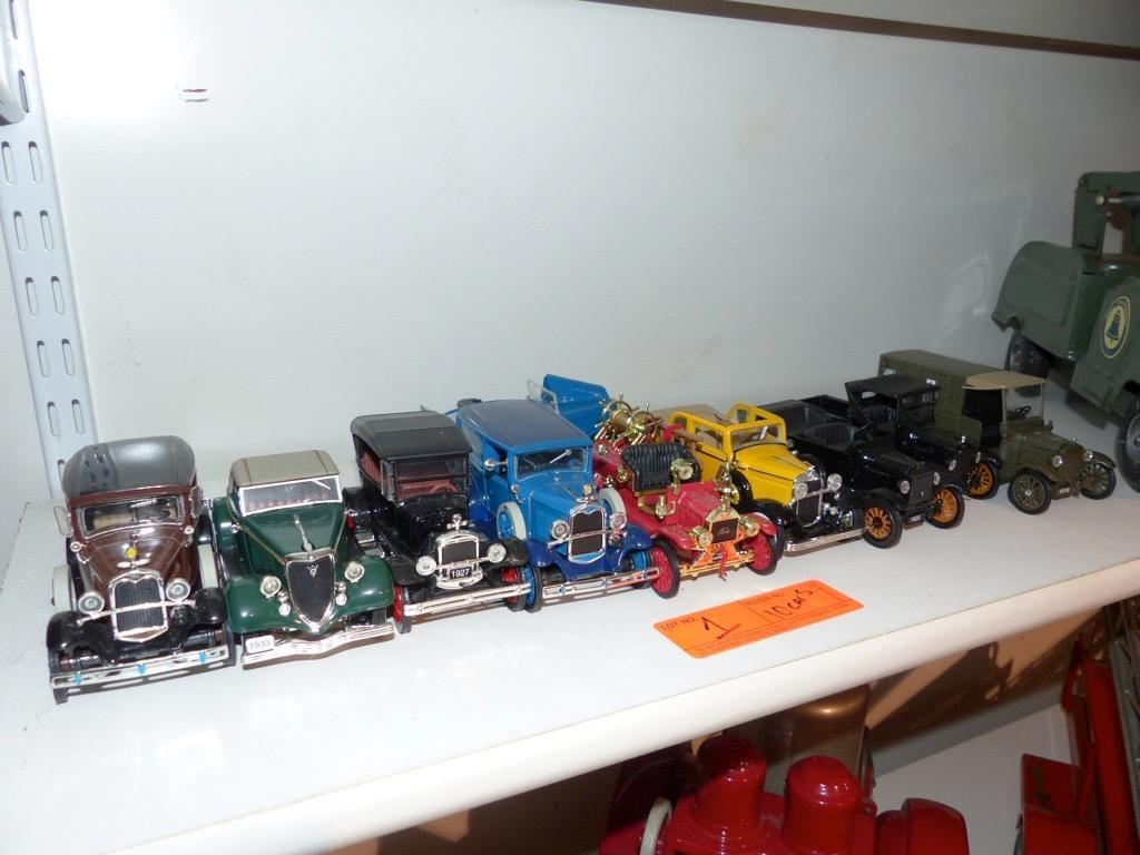 (10) VARIOUS MODEL TOY CARS COLLECTIBLE TOY