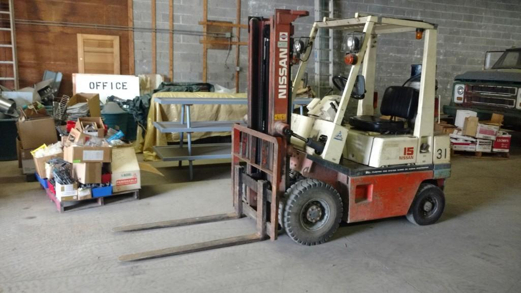 NISSAN FORKLIFT Powered By LP Engine Equipped With