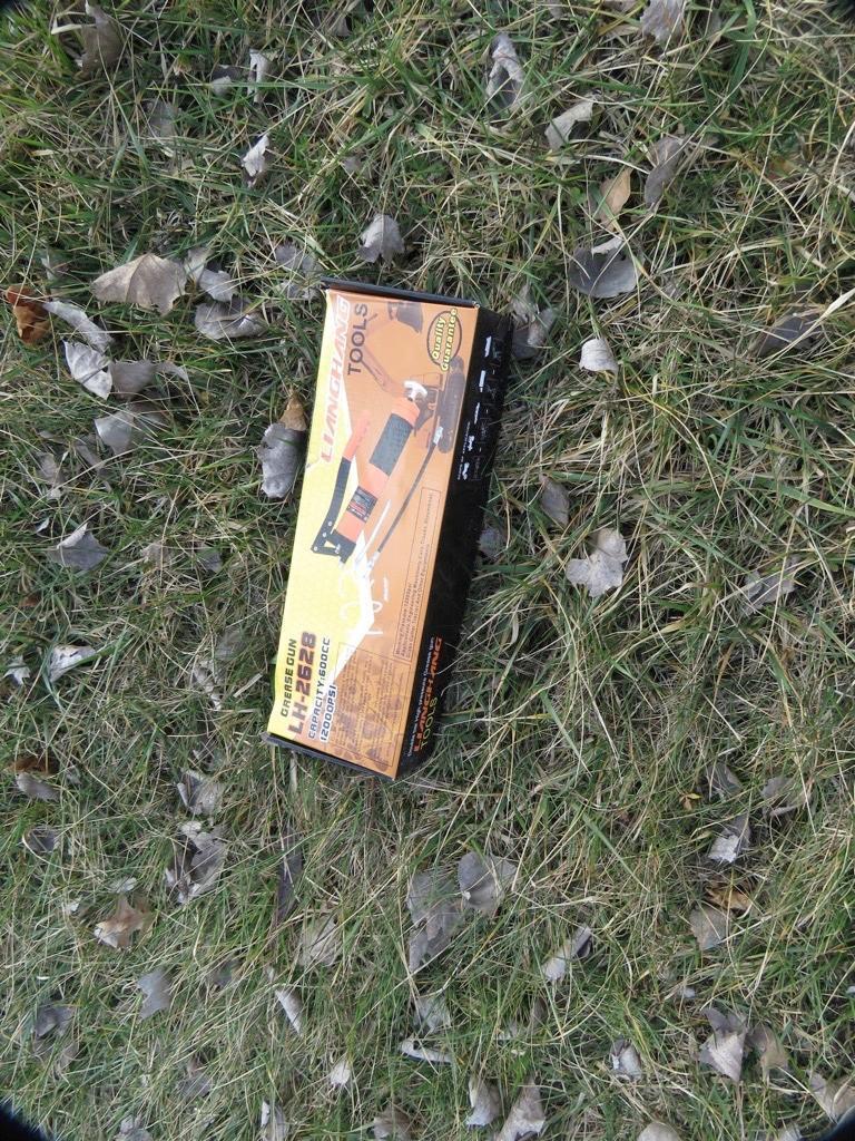 NEW GREASE GUN NEW SUPPORT EQUIPMENT