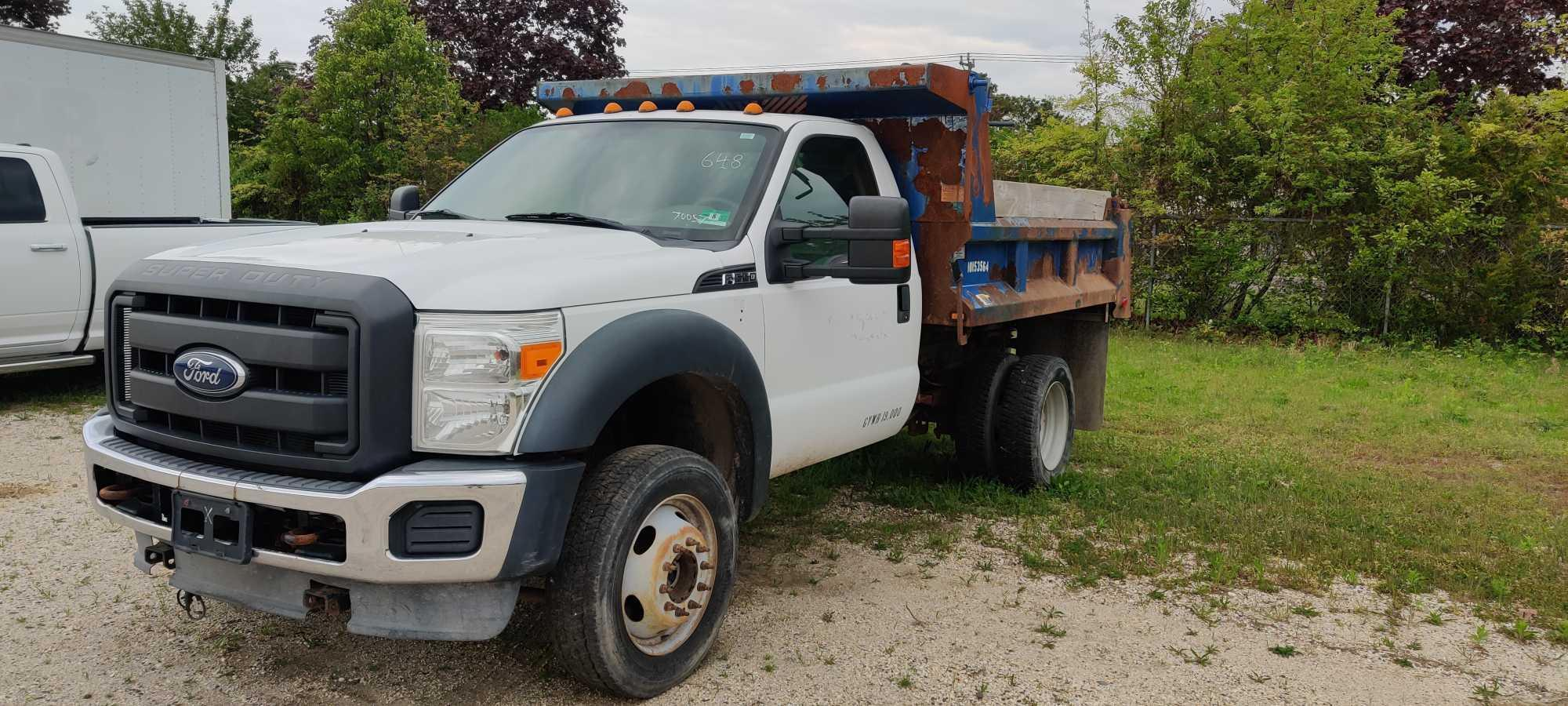 2013 FORD F550 DUMP TRUCK VN:A70057 Powered By Gas