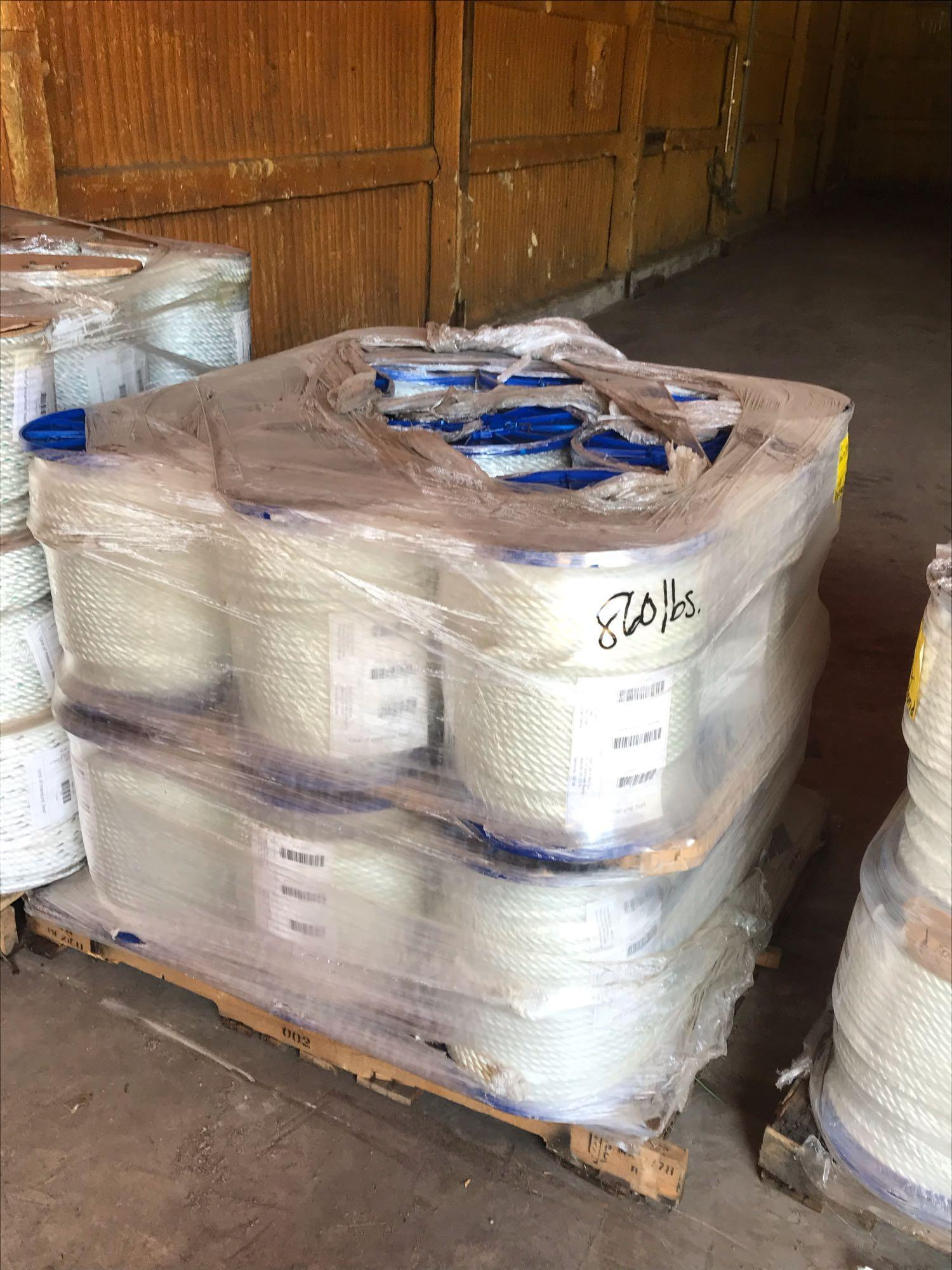 (10) 800FT. OF 1/2IN. ROPE ON SPOOLS SUPPORT EQUIPMENT