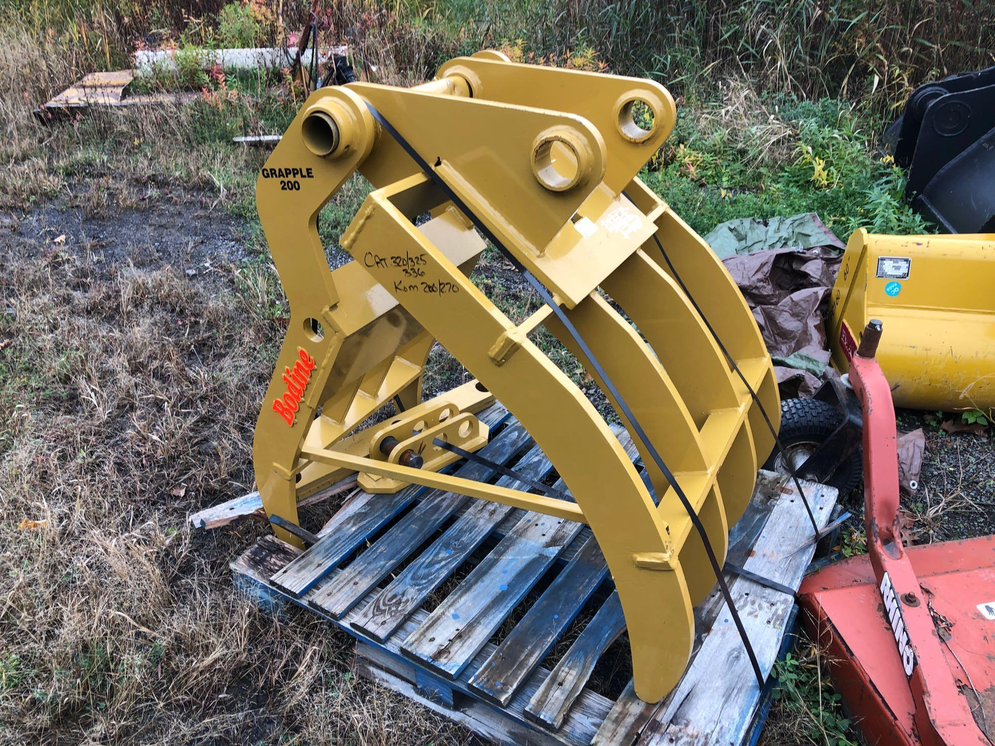 NEW BODINE GR-200 GRAPPLE RAKE To Fit: 34-50000 Lbs.