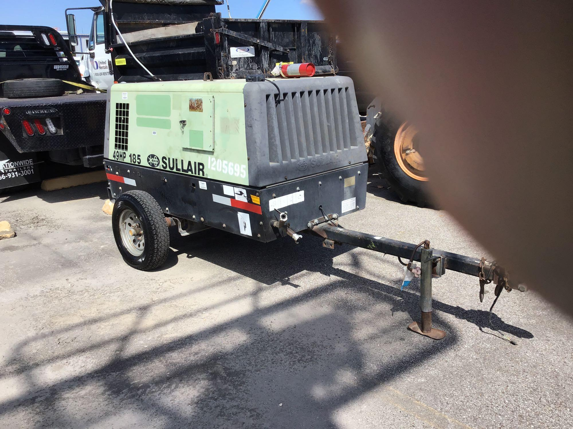 2011 SULLAIR P185DPQJDT4I AIR COMPRESSOR