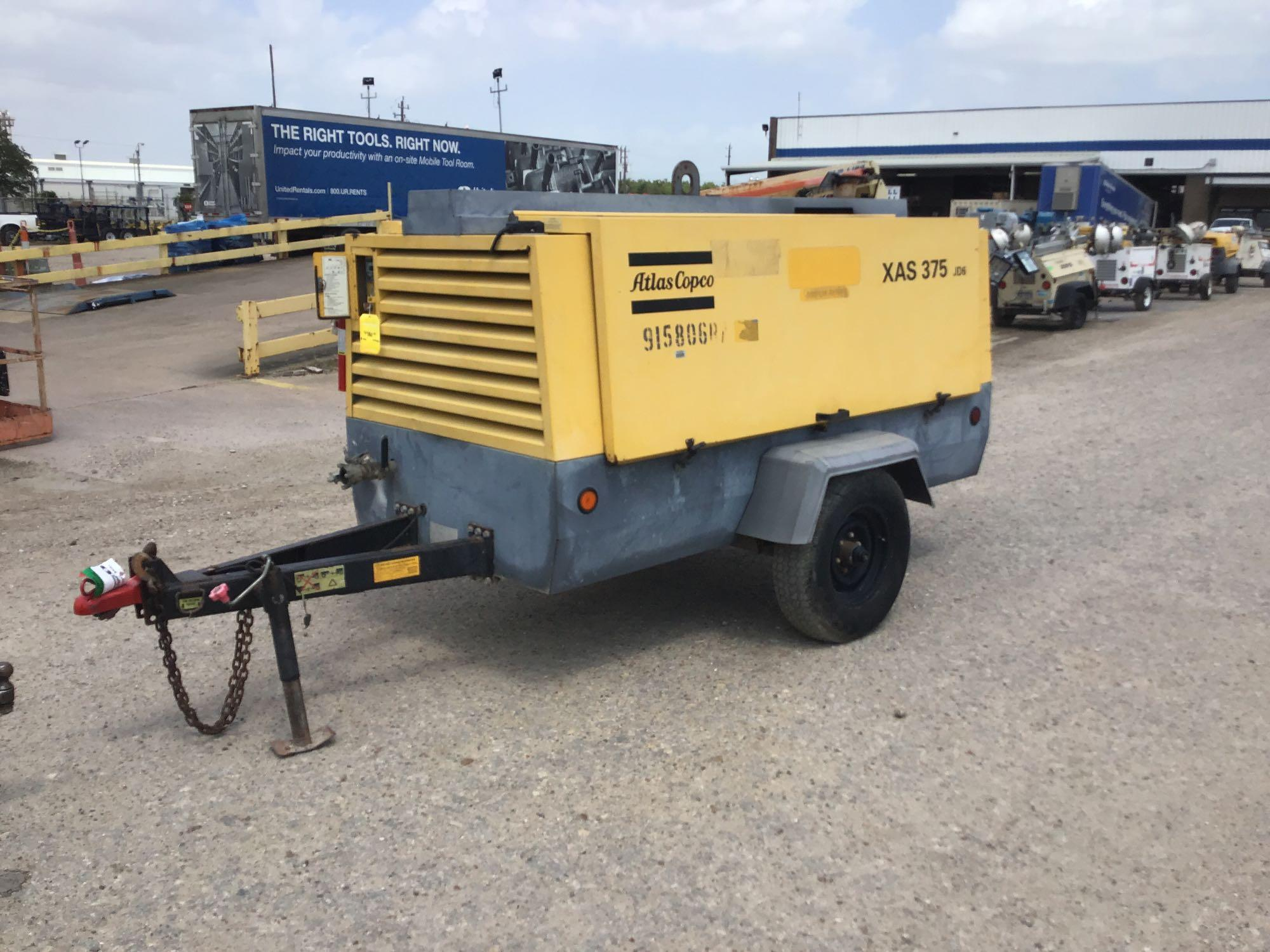 2012 ATLAS COPCO XAS375JD6 AIR COMPRESSOR SN:HOP072712
