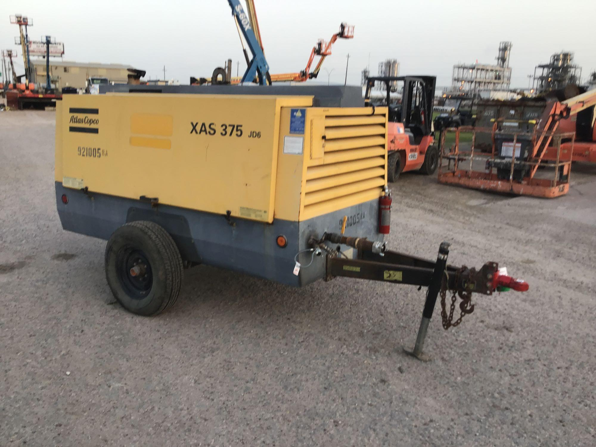 2012 ATLAS COPCO XAS375JD6 AIR COMPRESSOR SN:HOP072815