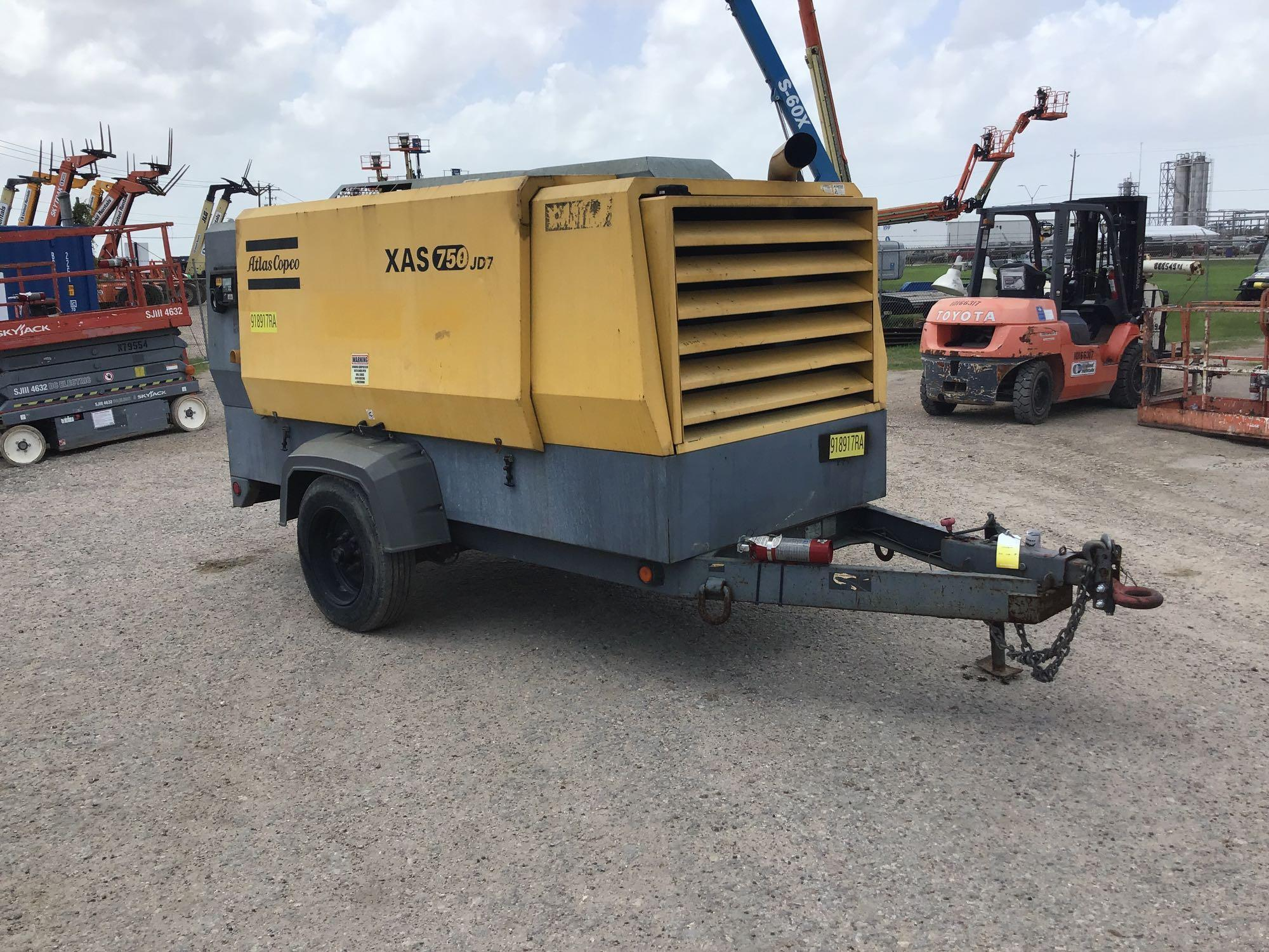 2012 ATLAS COPCO XAS750JDT3 AIR COMPRESSOR