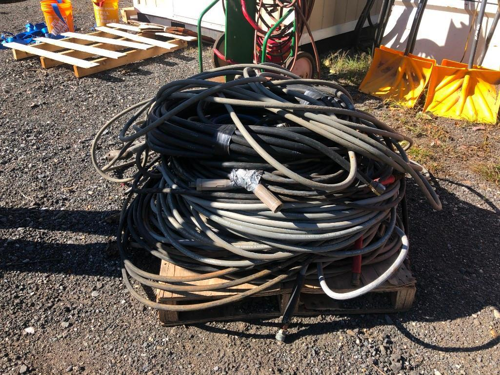 APPROX. 500FT. OF 6000 PSI PRESSURE WATER HOSE SUPPORT