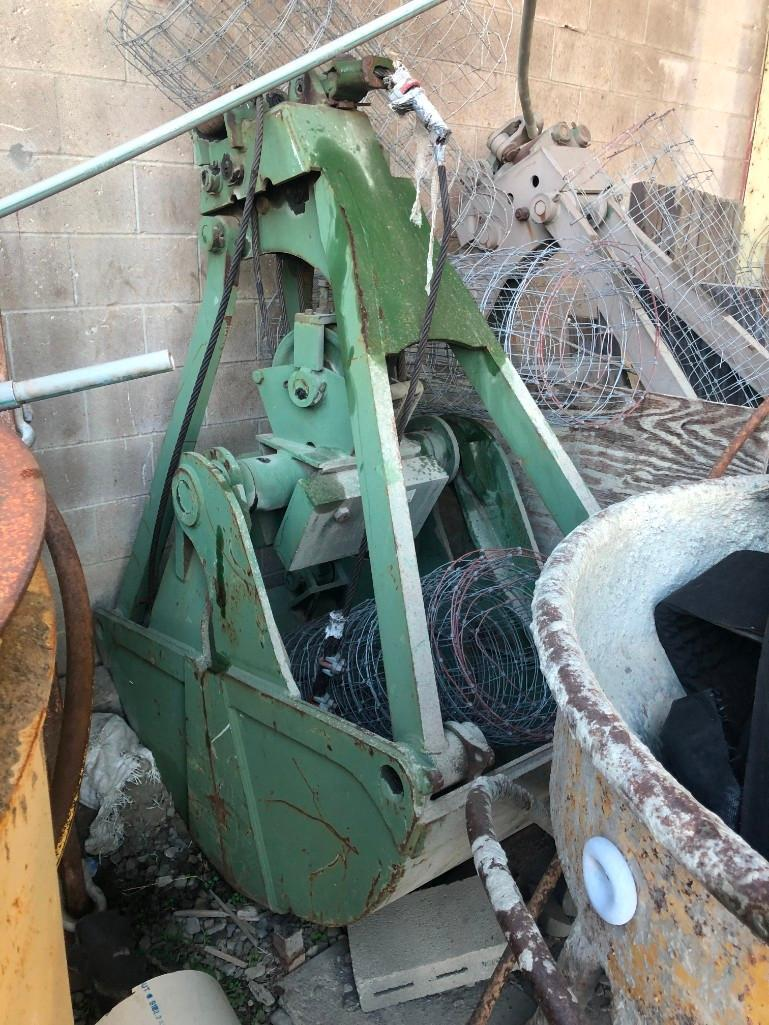 CABLE CLAM SHELL BUCKET CRANE ACCESSORY