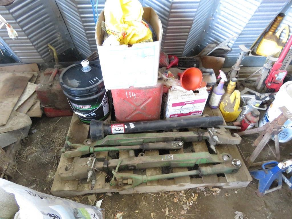 HYDRAULIC OIL 3PT HITCH GAS CANS SUPPORT EQUIPMENT
