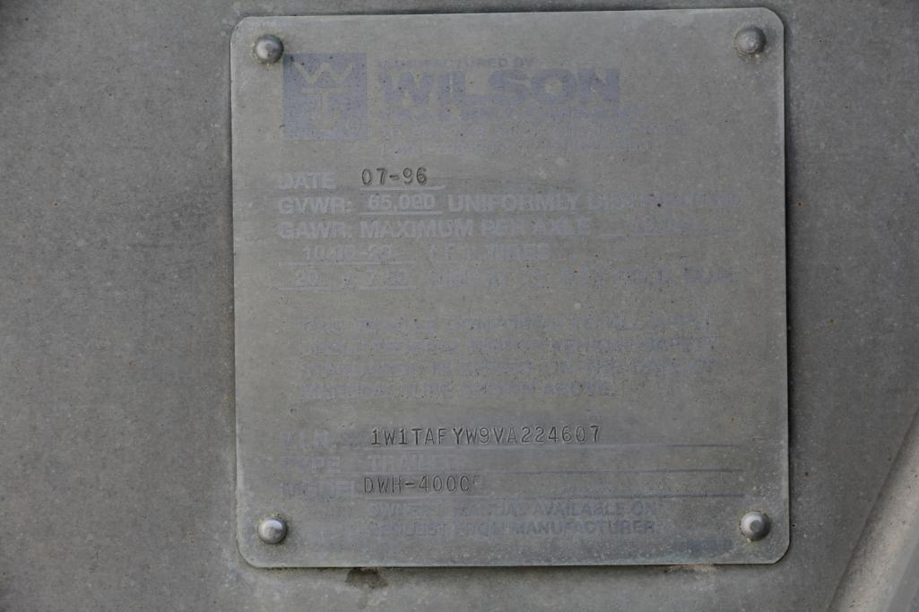 1996 Wilson 41' Hopper Bottom Trailer