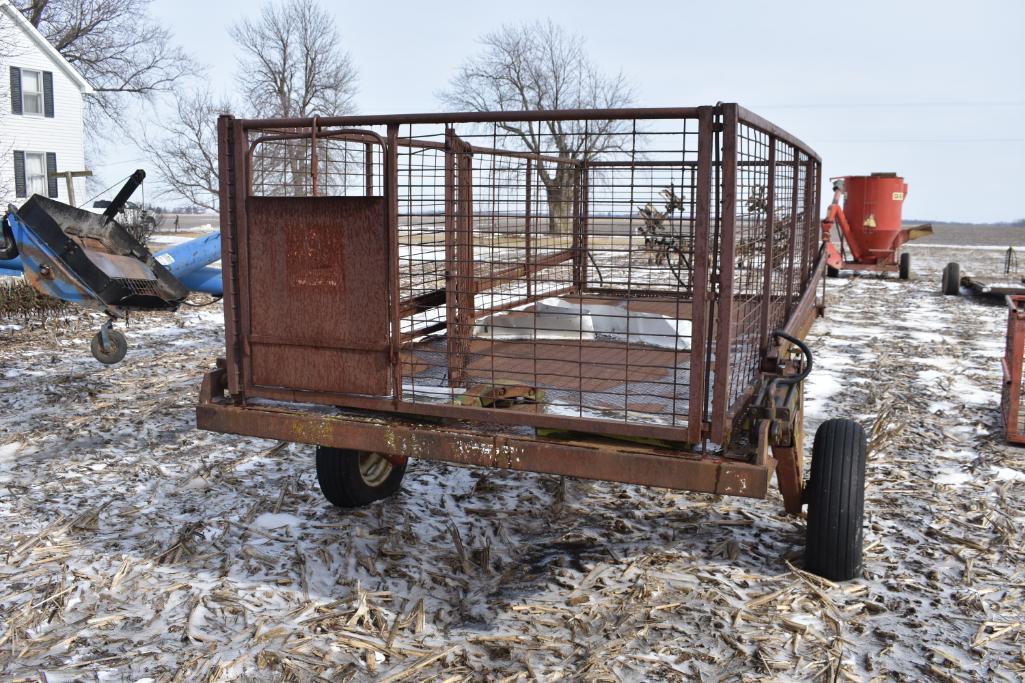 6' X 14' Hyd. Lift Hog Cart