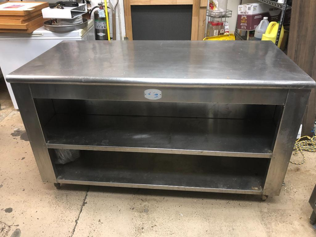 stainless-steel-two-tier-workstation