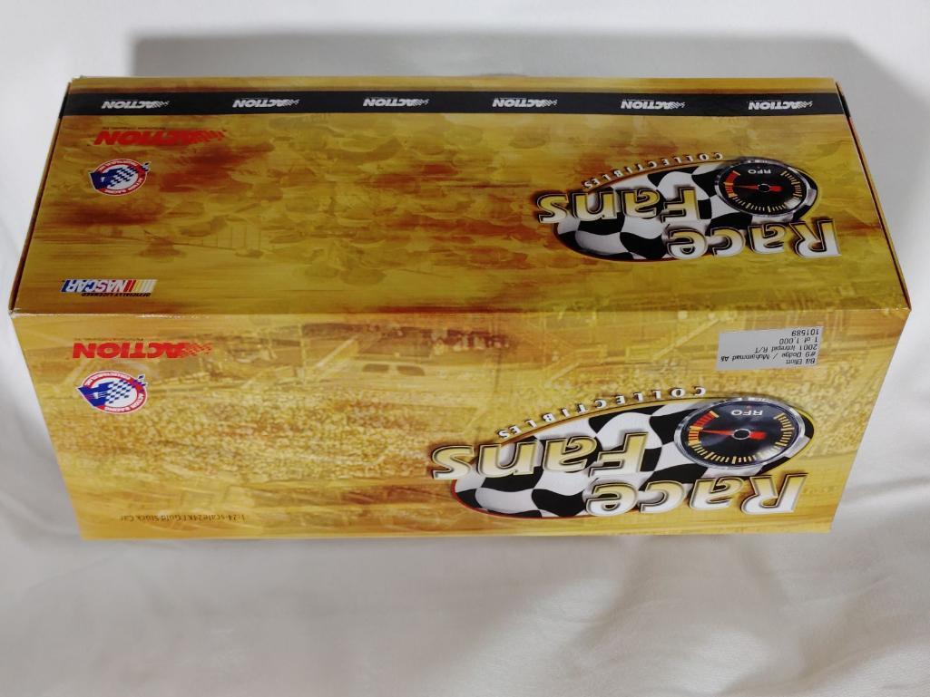 bill-elliott-9-dodge-muhammad-ali-2001-intrepid-rt-gold-action-racing-collectible-124-diecast