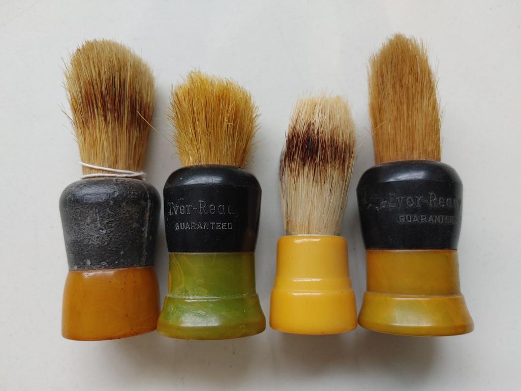 4-rubber-and-bakelite-shaving-brushes