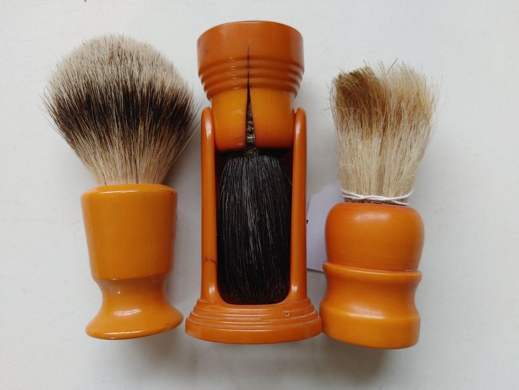 3-bakelite-shaving-brushes