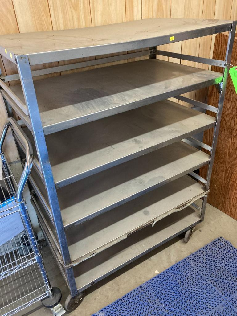 6-tier-stainless-steel-roll-around-cart
