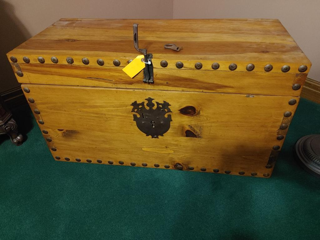 heavy-pine-chest-w-wrought-iron-lock