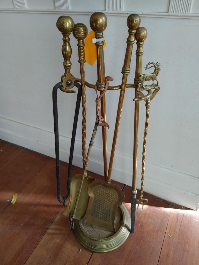 brass-fireplace-tool-set