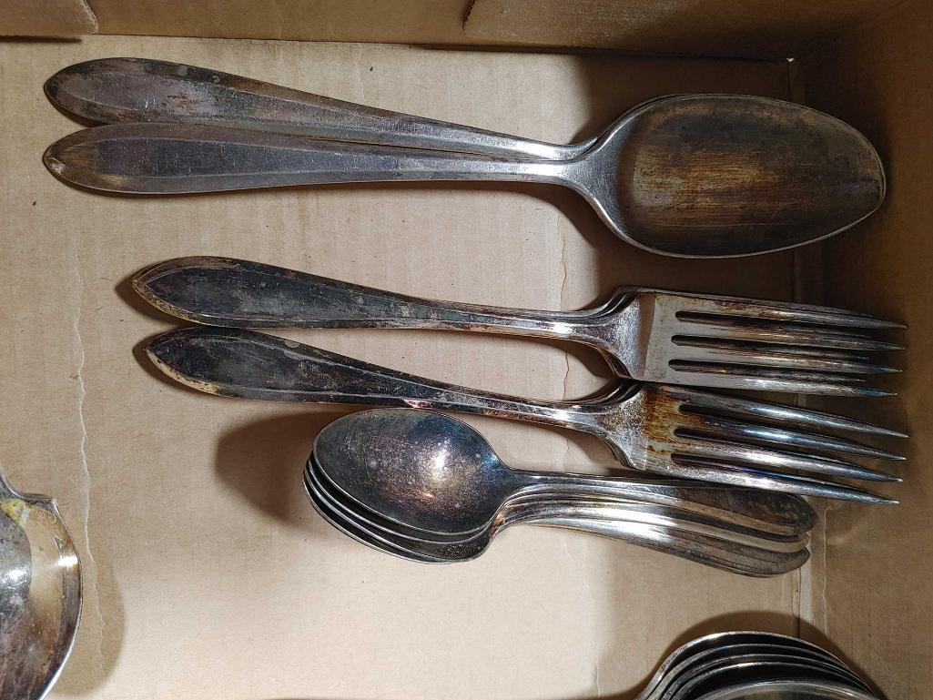 2-partial-silver-plate-silverware-sets