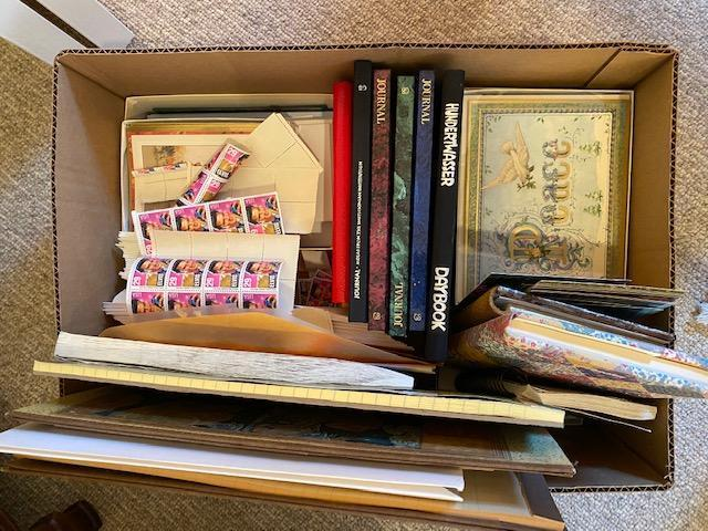 lot-of-greeting-cards-journals-postage-stamps