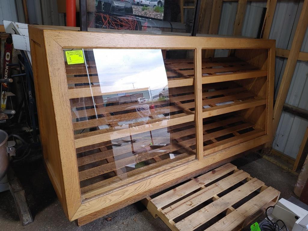 oak-3-shelf-bakery-display-case