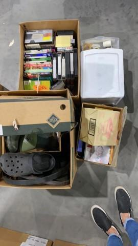 4-boxes-vhs-tapes-crocs-muck-boots-misc
