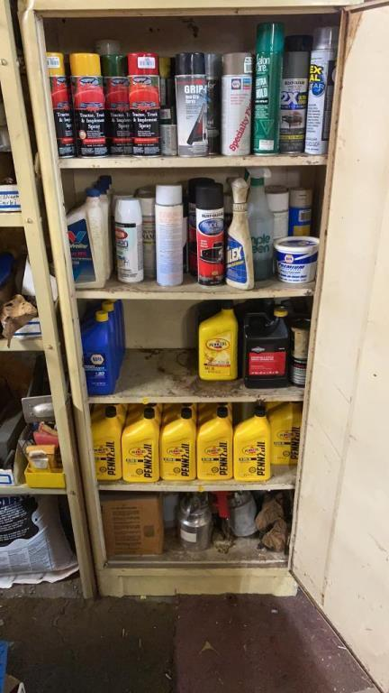 cabinet-of-motor-oil-spray-paint
