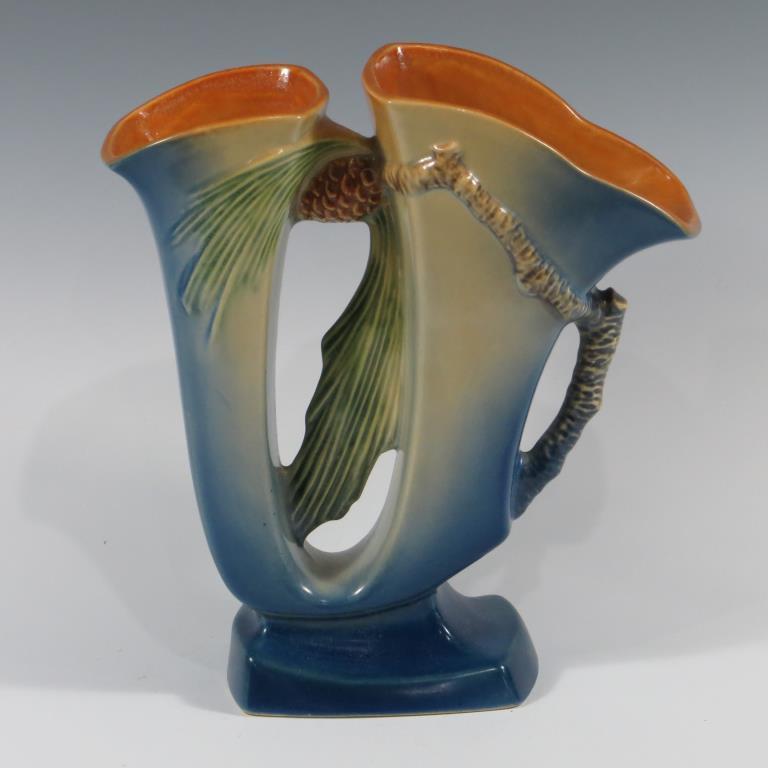 roseville-blue-pine-cone-vase-mint