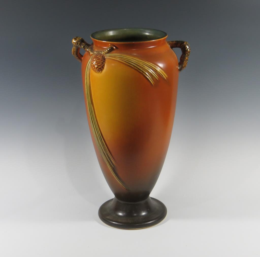 roseville-brown-pine-cone-vase