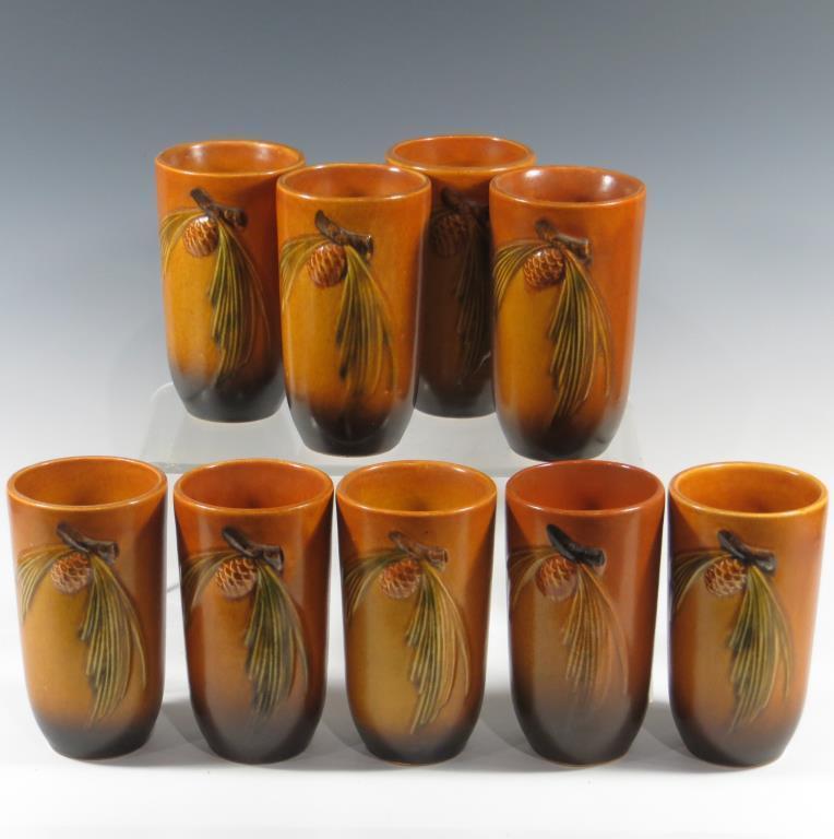 lot-of-nine-rv-brown-pine-cone-tumblers